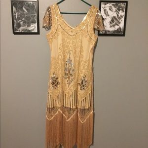 Dresses & Skirts - Yellow Great Gatsby Flapper Dress 1920s